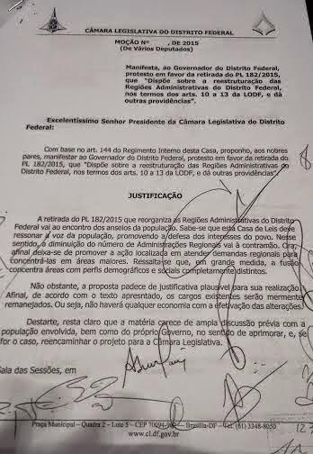 mocado - Deputados assinam documento contra a extinção das administrações regionais