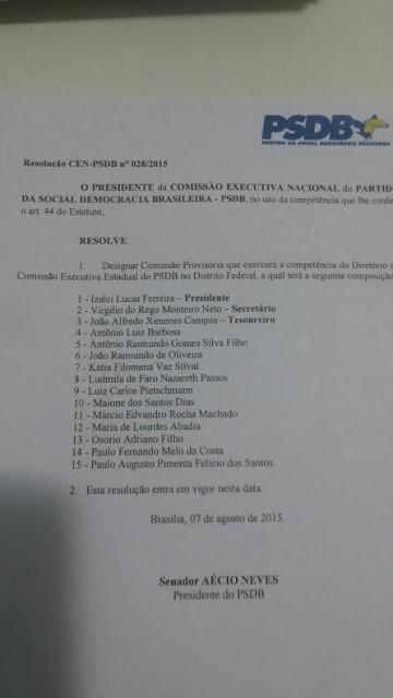 RESOLU - Izalci é confirmado presidente do PSDB-DF