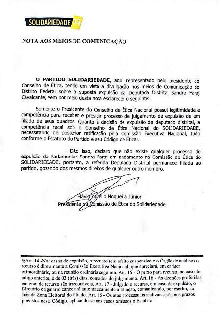 nta - Solidariedade diz que não expulsou deputada, mas...