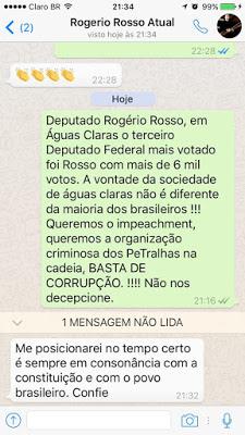 zapp - De acordo com blog, Rosso vota  favor de Dilma