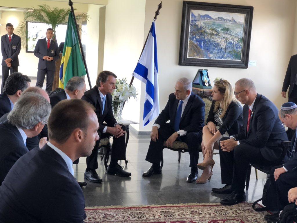 bolsonaro israel parceria radio corredor - No twitter, Bolsonaro divulga foto de encontro com premiê