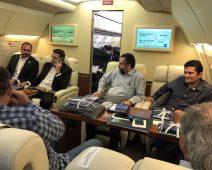 No avião com Bolsonaro