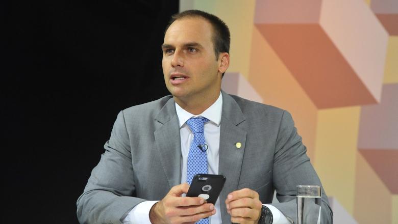 eduardo bolsonaro agencia camara radio corredor - Bolsonaro (filho) nega informação de novo partido