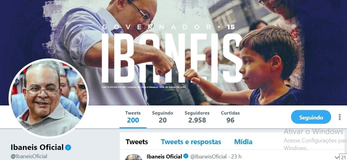 twitter perfil ibaneis governador radio corredor - Os políticos têm de aprender a lidar com o eleitor 3.0