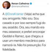 renan postagem dora kramer radio corredor 166x170 - Cassação de Renan Calheiros