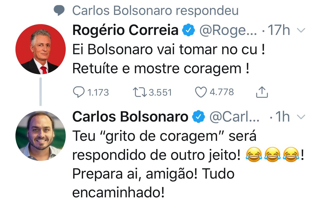 43197D68 8341 451A B6F3 0D8185EC1FF4 - Deputado manda Bolsonaro tomar naquele lugar