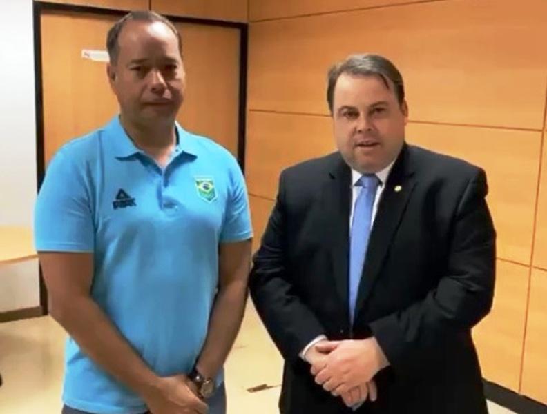 secretário esportes deputado federal julio cesar radio corredor - Deputado e secretário juntos