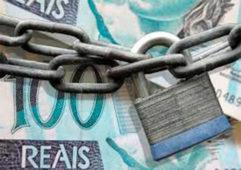 dinheiro bloqueado 241x170 - Mutirão para negociar dívidas em atraso