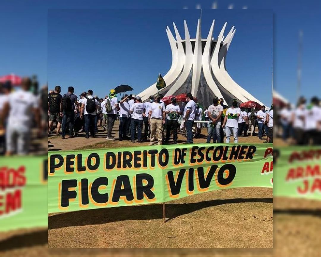 Read more about the article Armamentistas fazem ato em Brasília